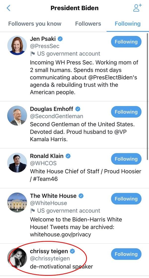 Tài khoản Twitter của Tổng thống Mỹ chỉ theo dõi 13 người mà có 1 ngôi sao, đó là ai vậy? ảnh 2