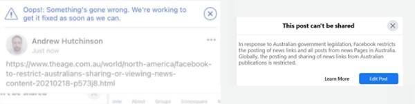 """Facebook thể hiện quyền lực khi chặn chia sẻ tin tức ở Úc: """"Hôm nay là nước Úc, ngày mai sẽ là gì nữa?"""" ảnh 3"""