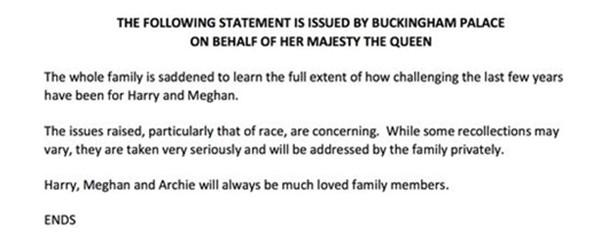 Meghan nói suốt 2 tiếng, Nữ hoàng Anh phản hồi bằng 61 từ nhưng mang rất nhiều ý nghĩa ảnh 1