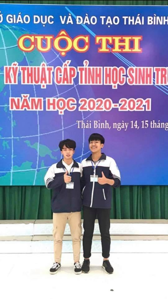 Thái Bình: Ứng dụng Theo dõi giãn cách xã hội cực thú vị của 2 nam sinh lớp 12 ảnh 1