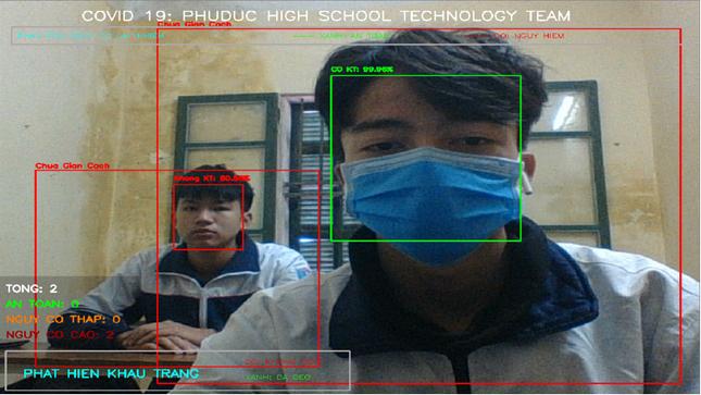 Thái Bình: Ứng dụng Theo dõi giãn cách xã hội cực thú vị của 2 nam sinh lớp 12 ảnh 2
