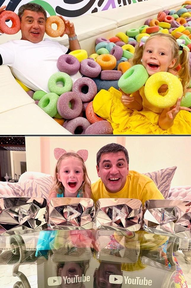Cô bé 5 tuổi bị bại não thu nhập hơn 400 tỷ/1 năm từ Youtube ảnh 1