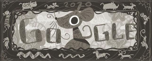 Google trưng biểu tượng chuột vàng chào năm Canh Tý 2020 ảnh 1
