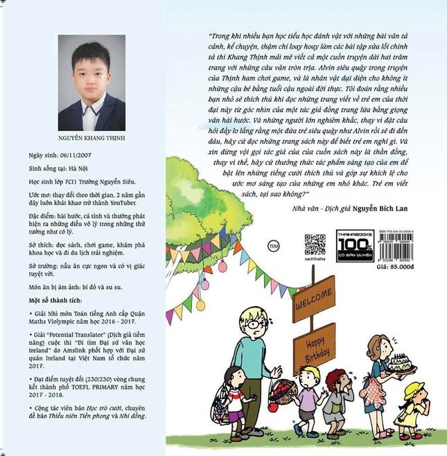 'Nhật ký của nhóc Alvin siêu quậy': Cuốn sách dành cho học sinh của tác giả nhí 13 tuổi ảnh 1