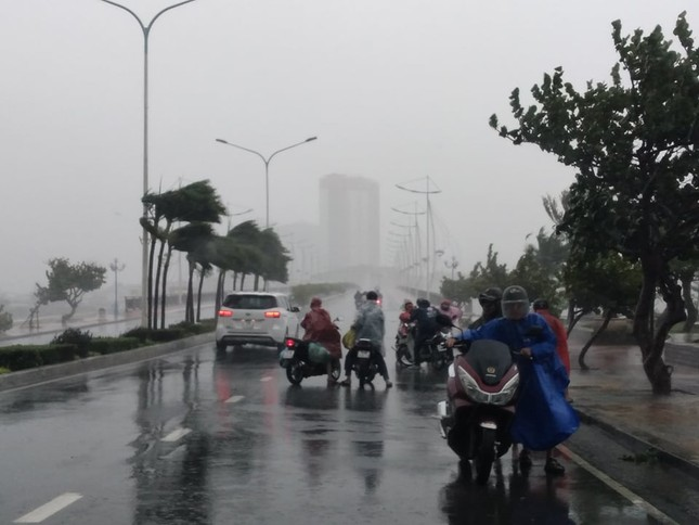 Bão đổ bộ vào Khánh Hòa, TP Nha Trang mưa to, gió lớn, nhiều nơi mất điện ảnh 4