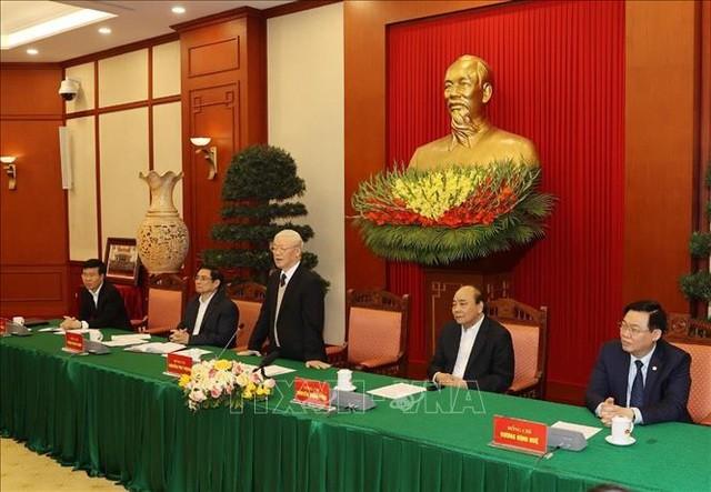 Bộ Chính trị gặp mặt các nguyên Ủy viên Bộ Chính trị, Ban Bí thư ảnh 2