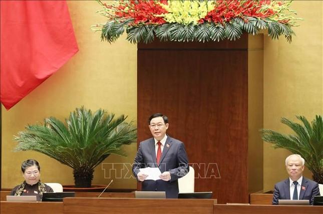 Hình ảnh tân Chủ tịch Quốc hội Vương Đình Huệ tuyên thệ nhậm chức ảnh 11