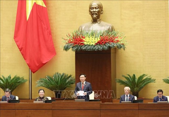 Hình ảnh tân Chủ tịch Quốc hội Vương Đình Huệ tuyên thệ nhậm chức ảnh 12