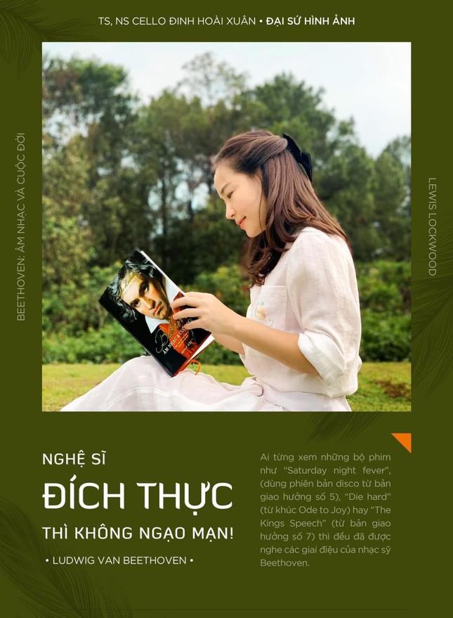 Đinh Hoài Xuân xinh đẹp trong vai trò đại sứ cho… sách về Beethoven ảnh 2