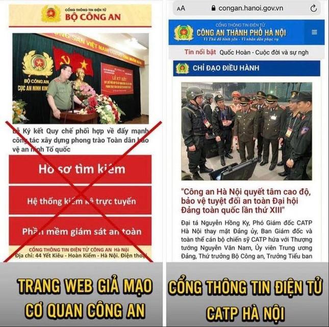 Tin tặc gắn mã độc vào trang web giả mạo Cổng thông tin của Công an Hà Nội ảnh 1
