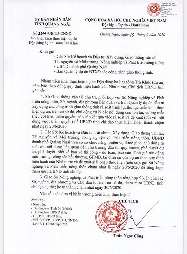 Chủ tịch Quảng Ngãi yêu cầu rà soát lại dự án 1.500 tỷ đang thi công ảnh 1