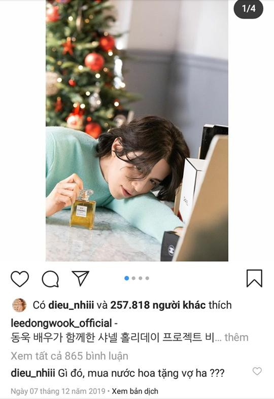 Diệu Nhi tiết lộ lý do không thả bình luận vào tài khoản Instagram của Lee Dong Wook ảnh 2