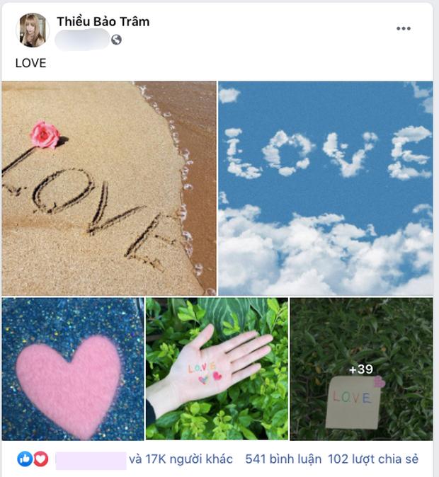 """Sơn Tùng nói về tình yêu, Thiều Bảo Trâm ngay lập tức đăng 43 tấm ảnh """"LOVE"""" ngọt ngào ảnh 1"""