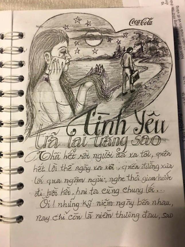 """Sổ chép nhạc thời """"ông bà anh"""": Chữ đẹp miễn chê nhưng đỉnh nhất lại là hình minh họa  ảnh 4"""