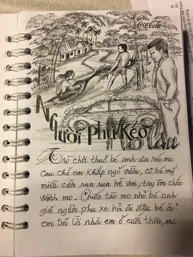 """Sổ chép nhạc thời """"ông bà anh"""": Chữ đẹp miễn chê nhưng đỉnh nhất lại là hình minh họa  ảnh 8"""