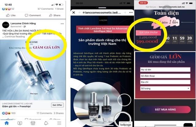 Lancôme khẳng định chương trình sale sốc 75% đang quảng cáo tràn lan trên MXH là giả mạo ảnh 1