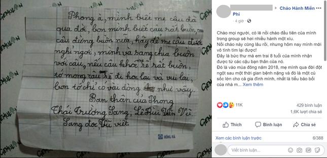 Bức thư tay khiến bao người bật khóc: Sự quan tâm chính là siêu năng lực chữa lành ảnh 1