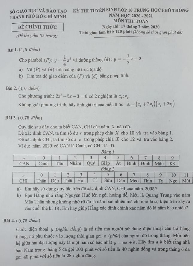 Đề thi Toán lớp 10 TP.HCM: Không dễ không khó, tâm lý thoải mái nên hoàn thành cả câu khó  ảnh 9