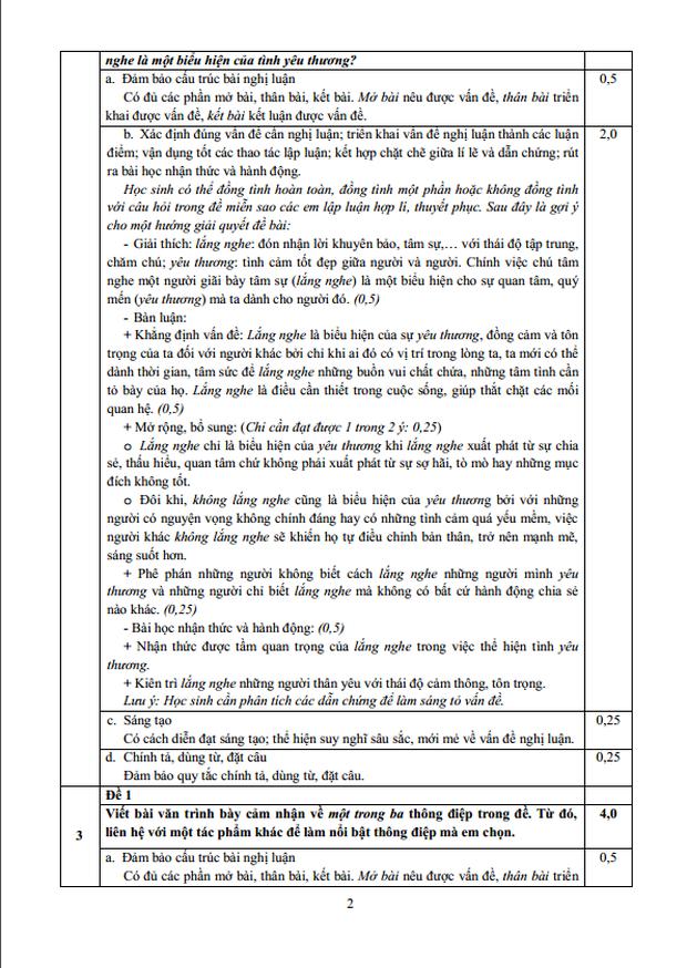 Trọn bộ đáp án chính thức Toán - Văn - Anh tuyển sinh lớp 10 năm 2020 từ Sở GD-ĐT TP.HCM ảnh 3