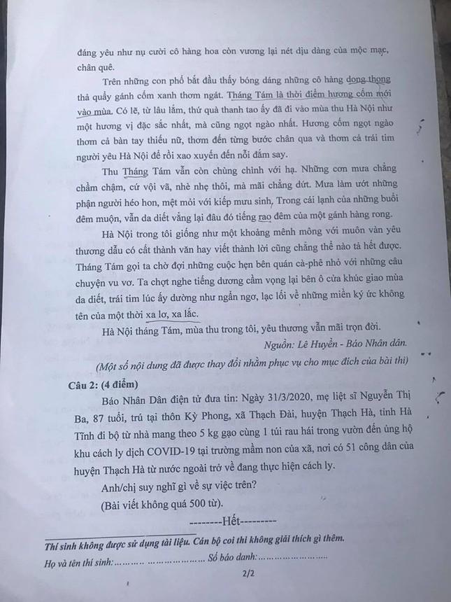 Thi năng khiếu của trường Báo: Nghĩa cử đẹp mùa dịch COVID-19 được đưa vào đề thi ảnh 7