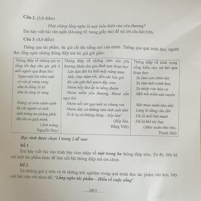 Đề thi Ngữ Văn lớp 10 TP.HCM bàn về vai trò của Lắng nghe giữa đại dịch COVID-19 ảnh 2