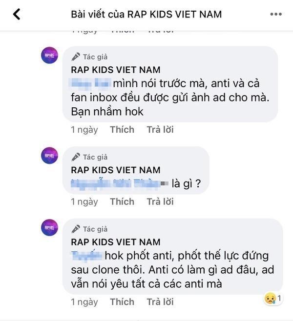 """""""Rap Kids"""" gây tranh cãi vì câu từ nhạy cảm trên fanpage và trong phần thi của thí sinh ảnh 6"""