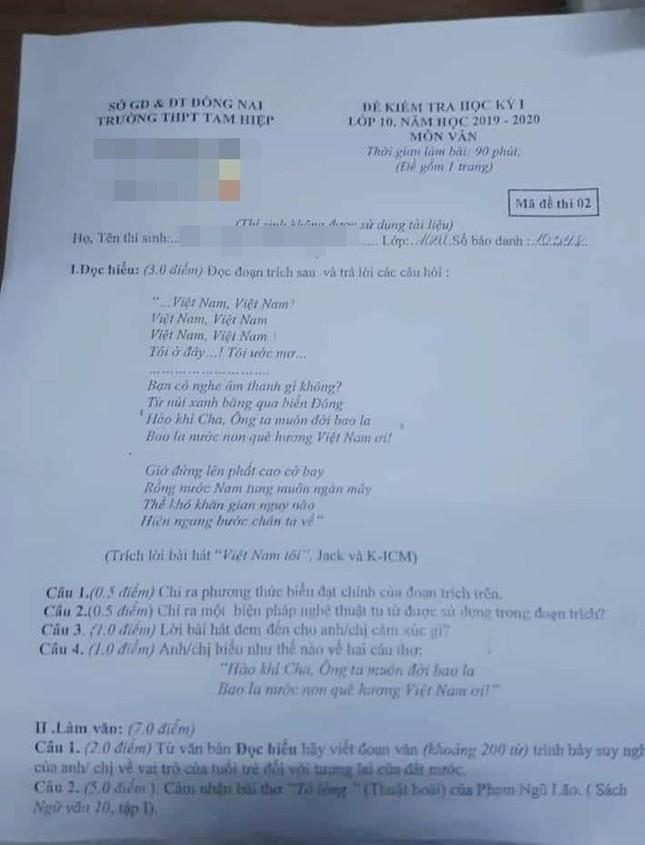 Lời bài hát của JACK được đưa vào đề thi Ngữ văn: Sáng tạo, mới lạ nhưng gây tranh cãi ảnh 2