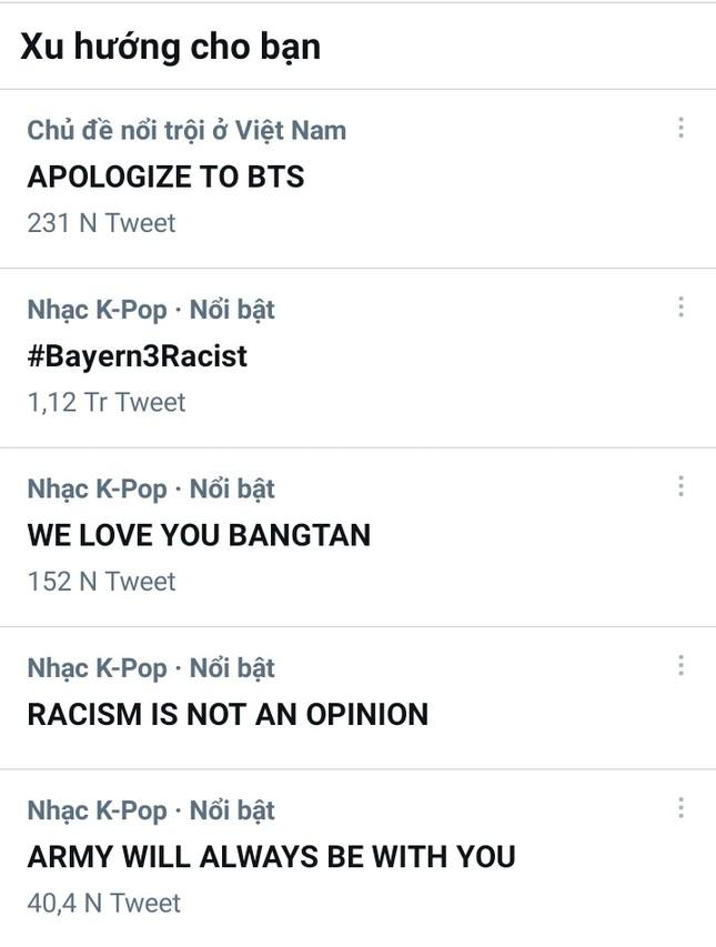 """BTS bị so sánh với virus Corona, ARMY """"giận tím người"""" đồng loạt treo hashtag yêu cầu lời xin lỗi ảnh 3"""