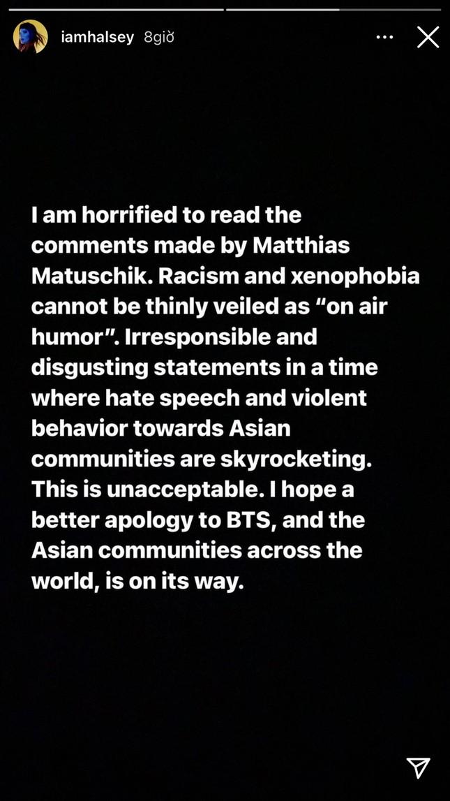 """BTS bị phân biệt chủng tộc, sao thế giới đồng loạt """"thả phẫn nộ"""" trước so sánh của DJ người Đức ảnh 3"""