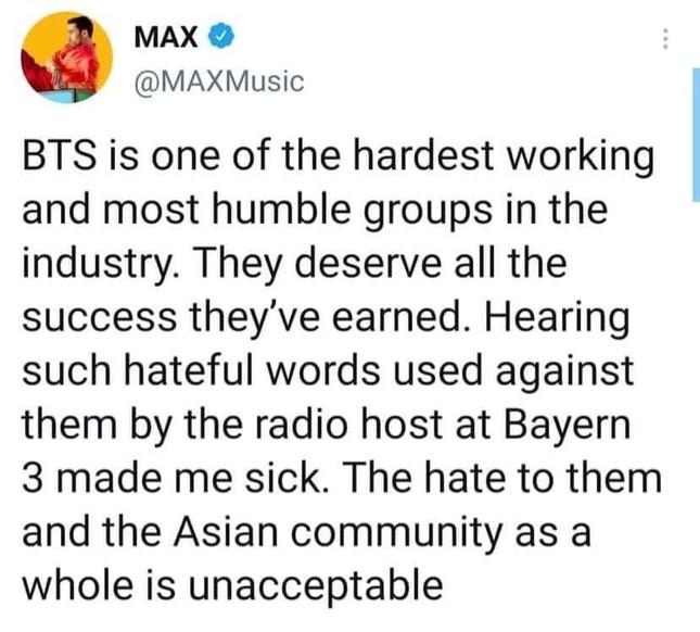 """BTS bị phân biệt chủng tộc, sao thế giới đồng loạt """"thả phẫn nộ"""" trước so sánh của DJ người Đức ảnh 4"""