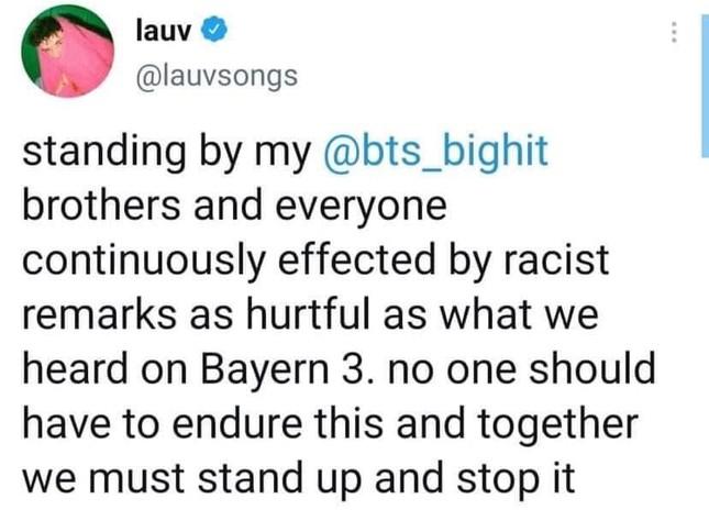 """BTS bị phân biệt chủng tộc, sao thế giới đồng loạt """"thả phẫn nộ"""" trước so sánh của DJ người Đức ảnh 5"""