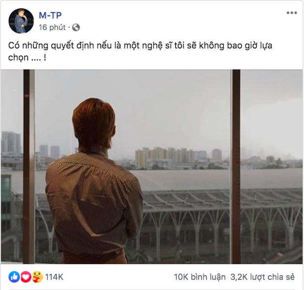 """Sơn Tùng M-TP khiến fan lo lắng bởi trạng thái đầy ẩn ý sau thời gian """"im hơi lặng tiếng"""" ảnh 1"""