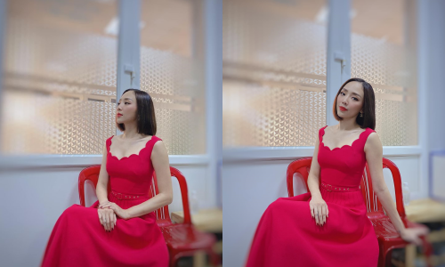 """Khoe ảnh dịu dàng với váy đỏ, Tóc Tiên gây hoa mắt vì quá giống """"Chị Mười Ba"""" Thu Trang ảnh 1"""
