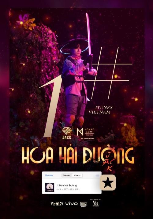 """MV """"Hoa Hải Đường"""" giành Top 1 iTunes Vietnam, nhận thêm """"cơn mưa"""" thành tích ảnh 1"""