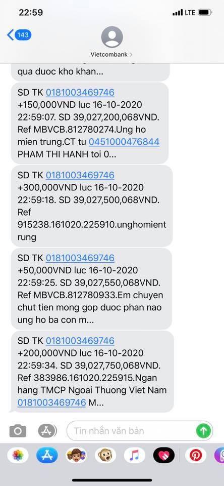 """Thủy Tiên chưa thể về TP.HCM, tiết lộ số tiền quyên góp """"chi viện Miền Trung"""" sau 3 ngày ảnh 1"""