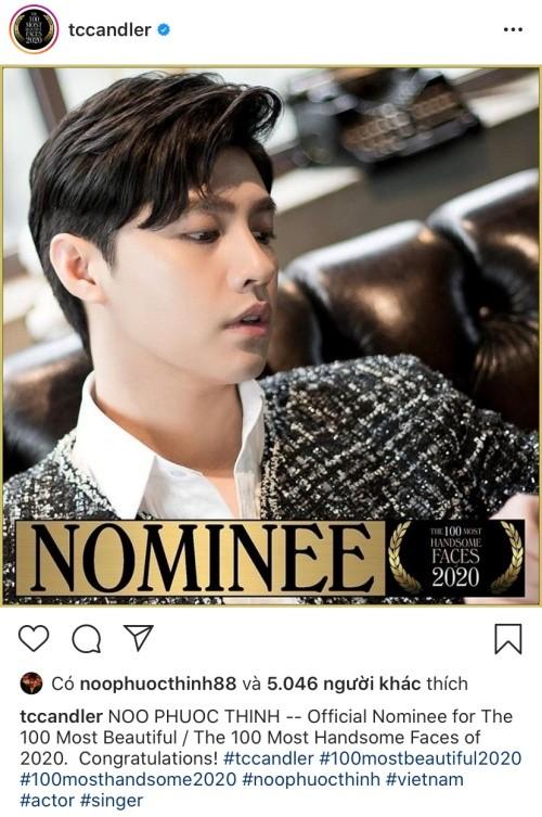 Noo Phước Thịnh bất ngờ được đề cử vào Top 100 Gương mặt đẹp nhất thế giới ảnh 1