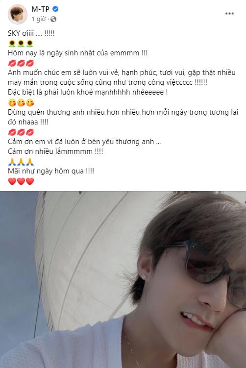 """Sơn Tùng M-TP viết tâm thư """"kẹo ngọt"""" gửi đến fandom SKY nhân ngày đặc biệt ảnh 1"""