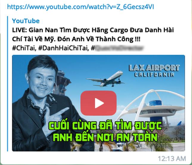 Phẫn nộ trước kẻ mạo danh người nhà, công khai thông tin cố nghệ sĩ Chí Tài lên YouTube ảnh 2