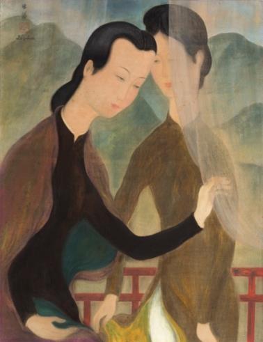 Hé lộ bức tranh của danh họa Lê Phổ vừa được bán với giá kỷ lục ở nước ngoài ảnh 2
