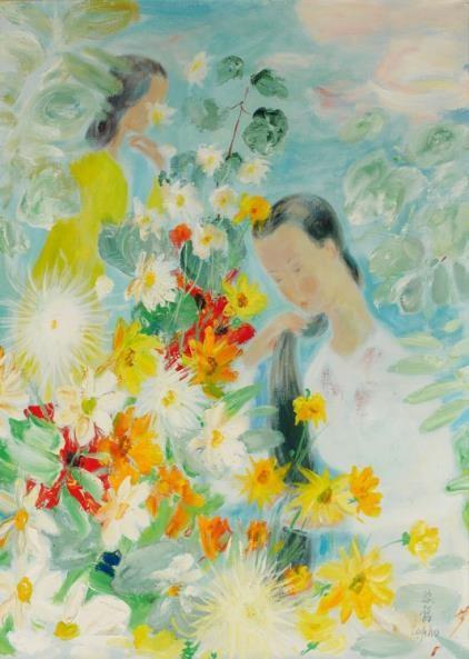 Hé lộ bức tranh của danh họa Lê Phổ vừa được bán với giá kỷ lục ở nước ngoài ảnh 3