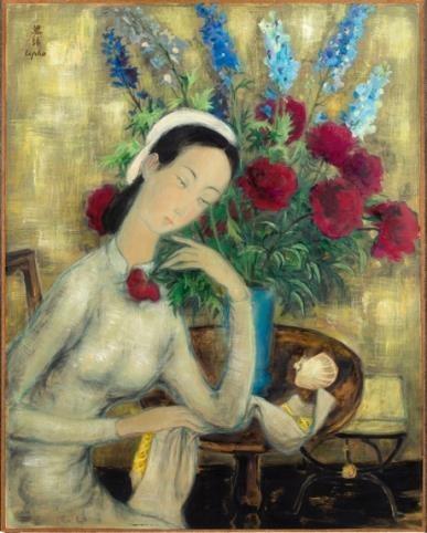 Hé lộ bức tranh của danh họa Lê Phổ vừa được bán với giá kỷ lục ở nước ngoài ảnh 1