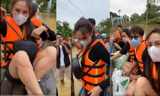 Những hình ảnh đẹp của Thủy Tiên khi đi cứu trợ đồng bào lũ lụt ảnh 8