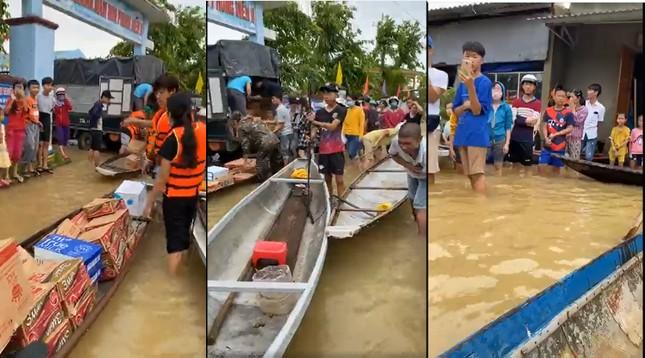 Những hình ảnh đẹp của Thủy Tiên khi đi cứu trợ đồng bào lũ lụt ảnh 7