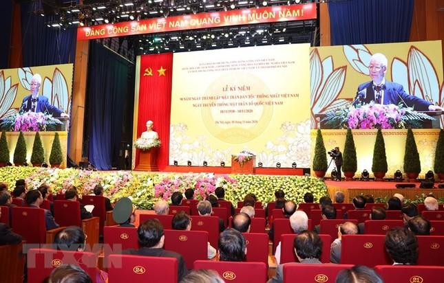 Tổng Bí thư, Chủ tịch nước dự Lễ kỷ niệm 90 năm thành lập Mặt trận Dân tộc thống nhất ảnh 6