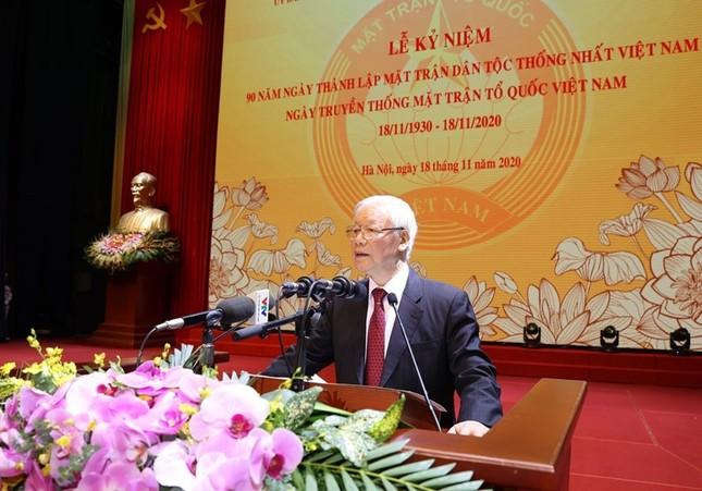 Tổng Bí thư, Chủ tịch nước dự Lễ kỷ niệm 90 năm thành lập Mặt trận Dân tộc thống nhất ảnh 7