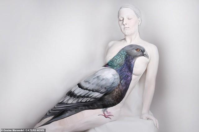 Ảnh khỏa thân biến thành động vật của nghệ sĩ body-painting gây sửng sốt ảnh 5
