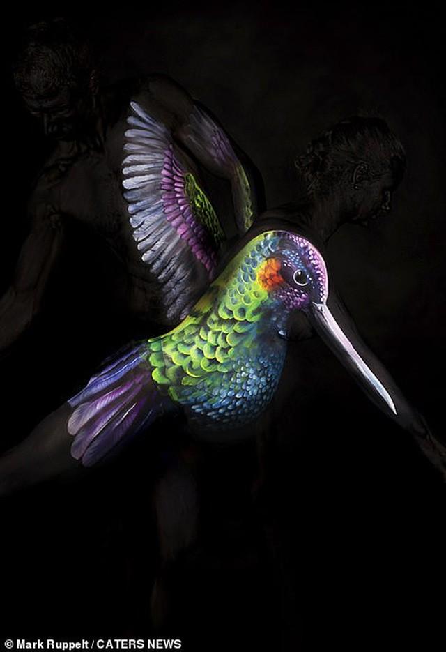 Ảnh khỏa thân biến thành động vật của nghệ sĩ body-painting gây sửng sốt ảnh 8
