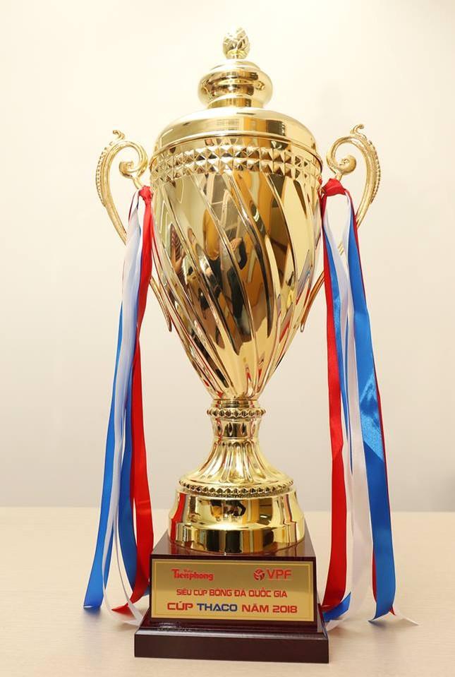 Cận cảnh chiếc cúp vô địch Siêu Cup Quốc gia 2018 ảnh 4