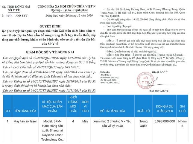 Có hay không việc 'thổi giá' thiết bị y tế ở Đồng Nai? ảnh 2