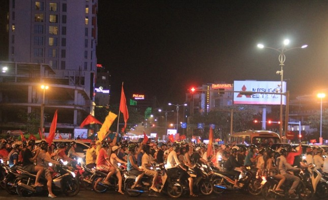 Đà thành đêm trắng ăn mừng Olympic Việt Nam ảnh 1